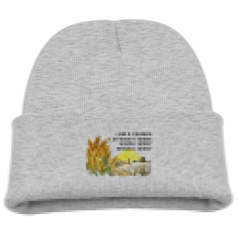 discount I Am A Farmer Kid Boy Knit Beanie Ski Hat Winter Warm Wool Skull Caps