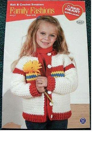 Amazon Family Fashions Knit Crochet Sweaters Book 0708