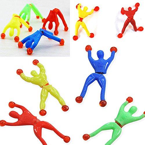 Pinksee 12PCS Sticky Wall Climber Climbing Men Novelty Toys