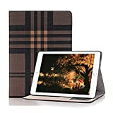 iPad Mini 4 Smart Case,Hulorry Fashion Lattice Ultra Slim Lightweight Case Smart Folio Stand Hard Cover [No Slip Surface] for iPad Mini 4 7.9 inch
