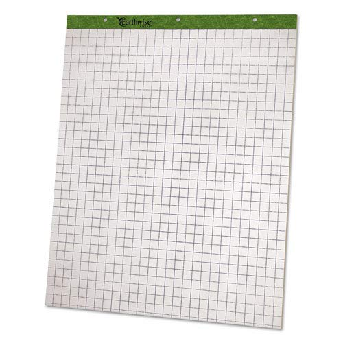 Flip Chart Pads, Quadrille Rule, 27 x 34, White, Two 50-Sheet Pads, Sold as 2 Each
