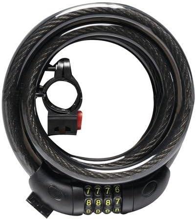 "1 NEW TuffWork 4-Dial Combination Cable Lock Bike 9//16/"" x 59/"""