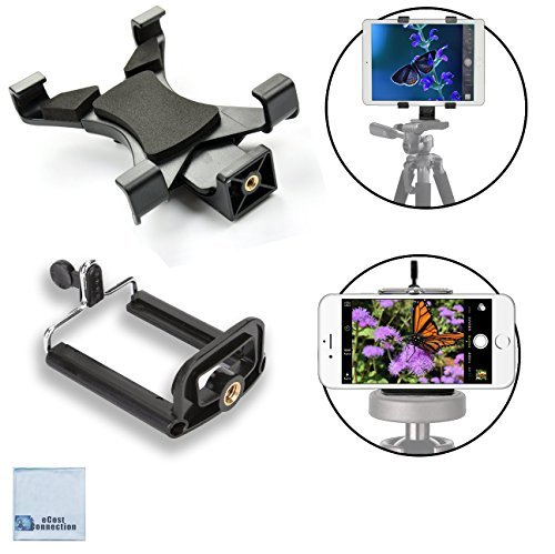 Universal Tablet Tripod Mount and Universal Smartphone Mount for All...