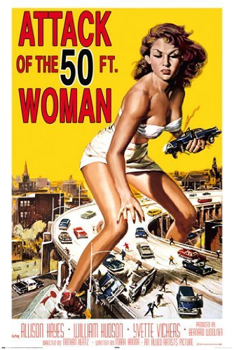 HUGE LAMINATED / ENCAPSULATED Attack Of The Fifty Foot Woman