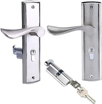 Puerta de aluminio macizo con manija externa Cerradura de ...