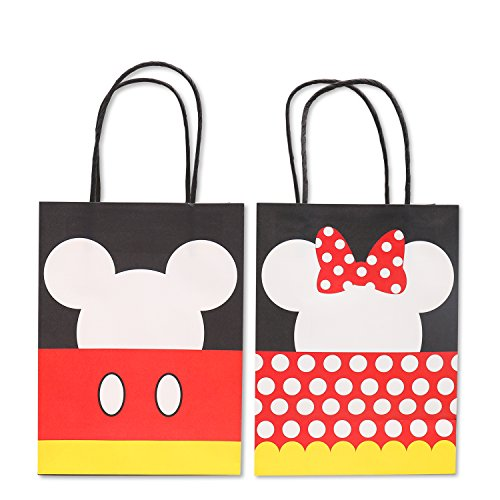 2d216ebb30fc Mickey Minnie Inspired Paper Gift Bags Kids Birthday Party Favor ...