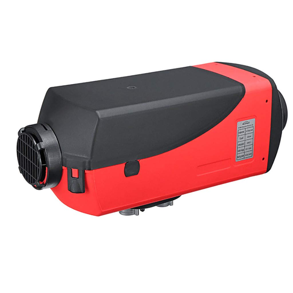 Hunzed Air Diesel Heater, 12V 5KW Air Diesel Heater for Trucks Boat Car Trailer RV Bus Motorhome Parking Heater LCD Display (Red)