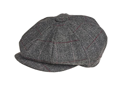 5aff4fe51a0c1 Peaky Blinders 8 Piece  Newsboy  Style Flat Cap -100% Wool Fabric  Variations - Buy Online in UAE.