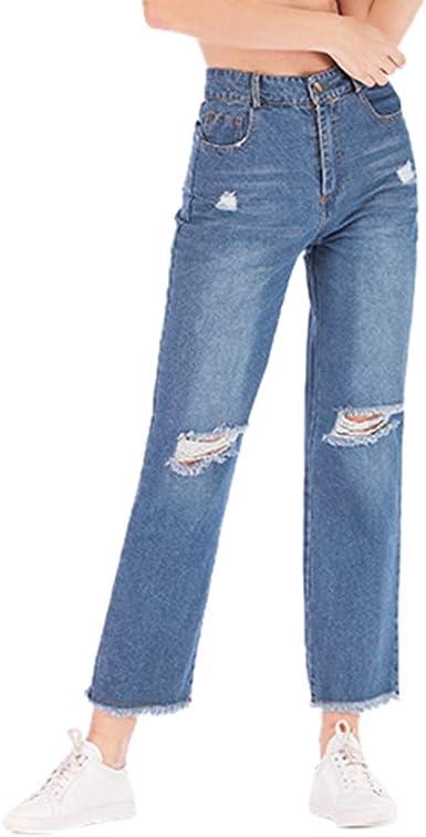 Amazon Com Henwerd Pantalones Vaqueros De Cintura Alta Para Adolescentes Ninas Mujeres Casuales Sueltos Anchos Pantalones De Pierna Suave Xxl Clothing