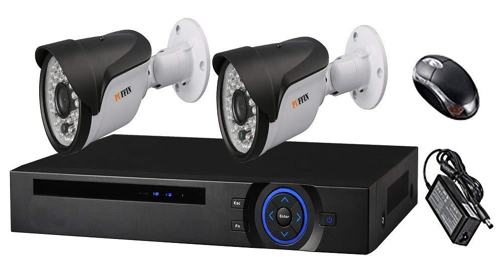 Puffin™ Full HD Night Vision Camera 2 PCS Bullet 1.3MP & 4-Chanel DVR