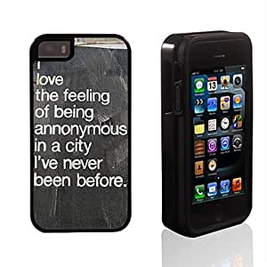 iPhone 5S Case, WKell Love the Feeling Design 2 in 1 Hybrid Armor Full-Body Dual Layer Shock-Protector Slim Case for iPhone 5/5S
