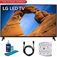 LG 43LK5700PUA 43-Class HDR Smart LED Full HD 1080p TV (2018) + 6ft HDMI Cable + Screen Cleaner (Large Bottle) + SurgePro 6-Outlet Surge Adapter w/Night Light + 1 Year Extended Warranty