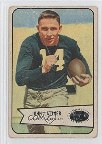 Johnny Lattner COMC REVIEWED Good to VG-EX Johnny Lattner (Football Card) 1954 Bowman - Football Cards 1954