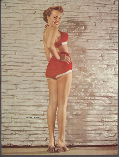 Actress Terry Moore 34-24-34 pin-up 1953 (Frog Terry)