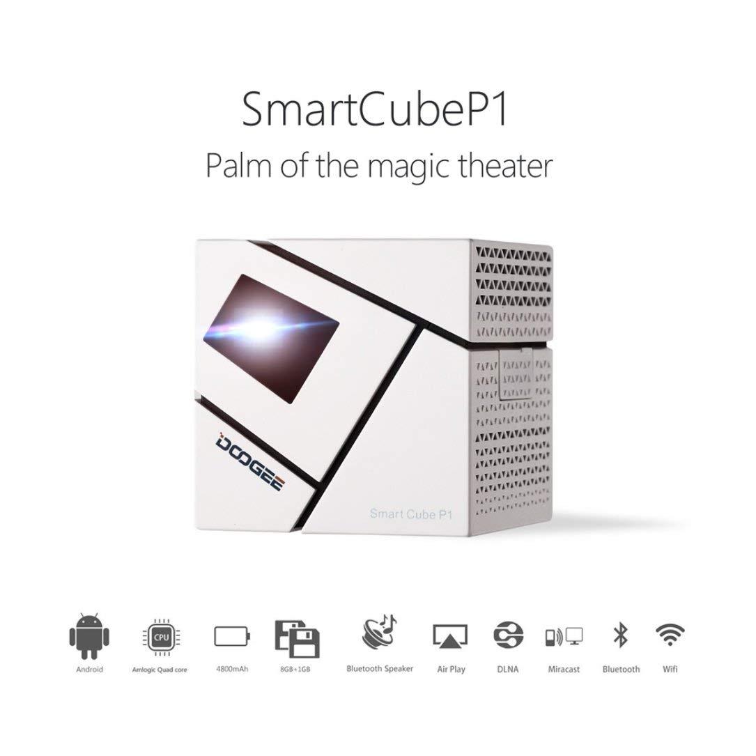 Doogee Inteligente P1 Cubo 3D Home FHD 4800mAh Mini LED 3D ...