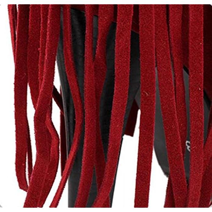 Stivali Invernali Da Donna Donna Sopra Il Ginocchio Coscia Alta Moda Nappa Taiwan Impermeabile Martin Grande Dimensione Banchetto Nozze Festa Red 33