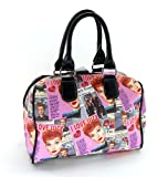 I Love Lucy Pink Collage Satchel Purse Bag for sale  Delivered anywhere in USA