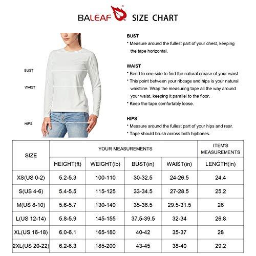 BALEAF Women UPF 50 Sun Protection TShirt LongShort Sleeve Outdoor Performance