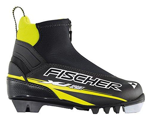 Fischer XJ Sprint - Botas de esquí de fondo, color negro - Negro, amarillo