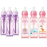 Dr. Brown's Baby Bottles Girls 6 Pack - 3 (8 oz) Lavender...
