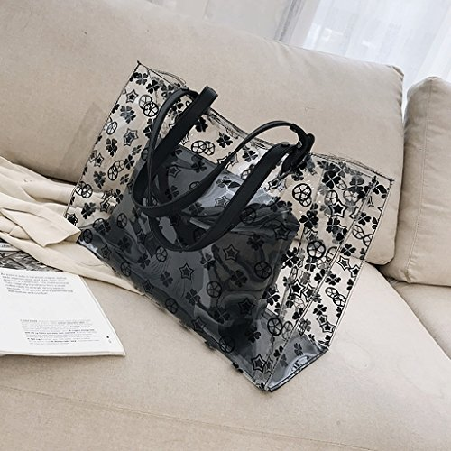 De Transparentes Capacity Carta Del Impresa La Women Large De A Bolso Jalea Hombro New Bolso Letter Summer Shoulder Bag color Black De White Capacidad Verano A De Negro Mujeres color A Blanco Handbag Bolsos Bag Jelly Handbag Gran Nuevo Bags Transparent Las Printed OFHq6a