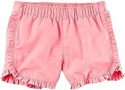 Carter\'s Girls Woven Short 258g462, Pink, 4T