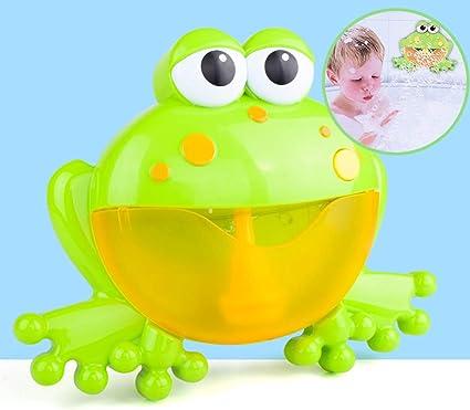 Musical Frog Baby Bath Toy Bubble Machine Bathtub Maker for Bath