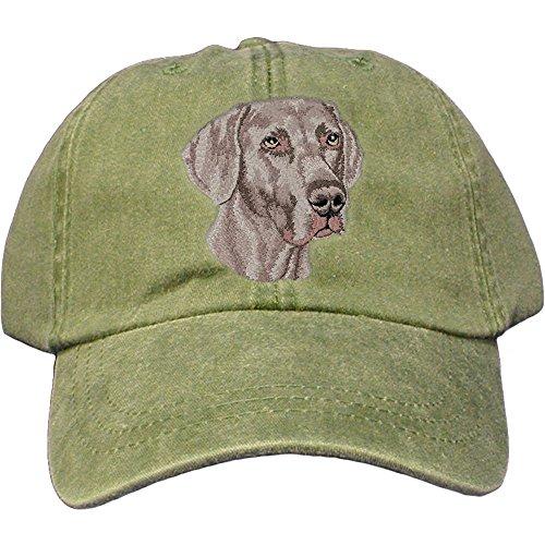 Weimaraner Baseball Hat - Cherrybrook Dog Breed Embroidered Adams Cotton Twill Caps - Spruce - Weimaraner