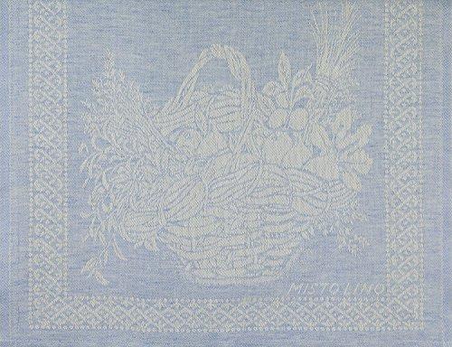 Tessitura Pardi Cesto (Basket) Sky Blue Misto Linen Italian Kitchen Towel  By Tessitura Pardi