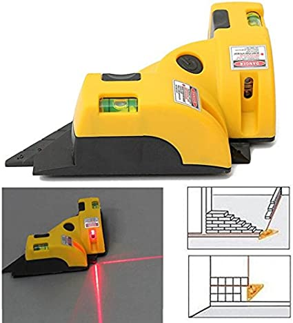 Hygoo Right Angle 90 Degree Horizontal /& Vertical Laser Line Projection Square Level Laser with Two Suction Cups