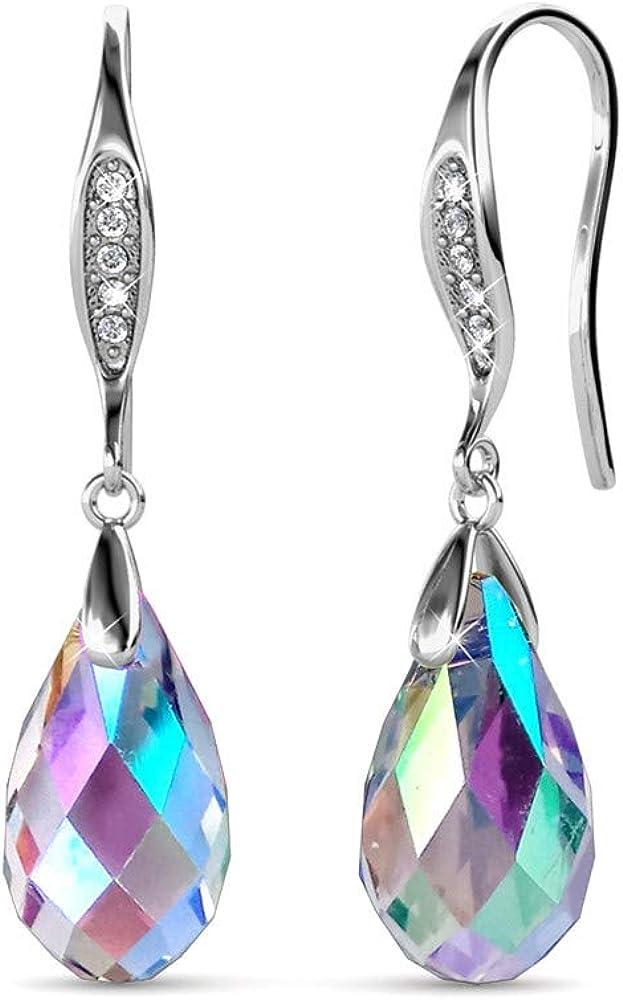 YOURDORA Pendientes Colgantes de Plata de ley 925 para Mujer con Aurore Boreale Cristal de Swarovski Elements Joyas de Fiesta