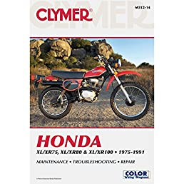 clymer honda xl xr75 100 1975 2003 service repair maintenance rh amazon com 1976 Honda XL 100 1974 honda xl 100 service manual