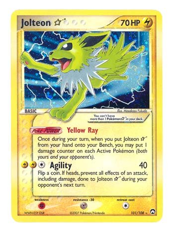 Power Keepers Pokemon Card - Pokemon EX Power Keepers #101 Shining Jolteon Holofoil Card [Toy]