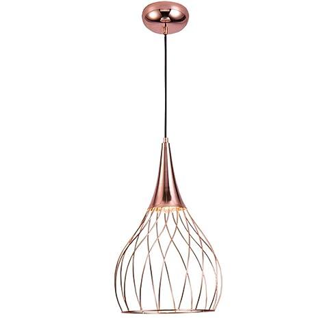 Lámpara de techo de hierro Restaurante Lámpara de diseño ...