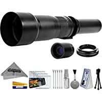 Opteka 650-2600mm High Definition Ultra Telephoto Zoom Lens for Sony A-Mount Digital SLR Photo Cameras (Black) + Premium 10-Piece Cleaning Kit