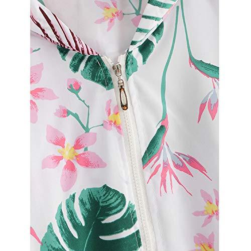 Femmes Veste Blouson Manteau Femme Court R Impression Covermason Florale Zippe Motard Zipper fIqfxrBwA