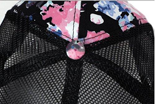Rosa sombreros flor Navidad ocio Tapa pato de beanie Navy gorra EXTERIOR sombrero hat MASTER lengua visor béisbol de Halloween blue fTwqX