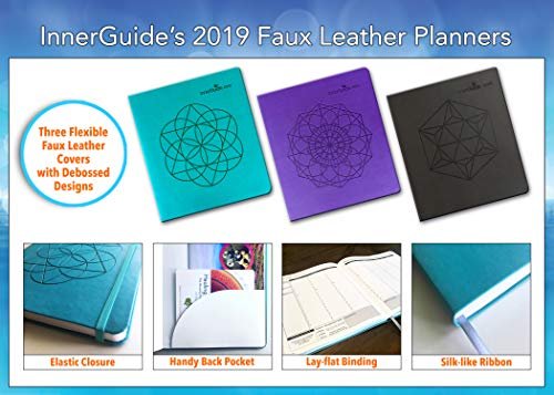 InnerGuide 2019 Goal & Life Planner, Weekly & Monthly Organizer, Appointment Book & Journal, Jan - Dec (Faux Leather Cover)