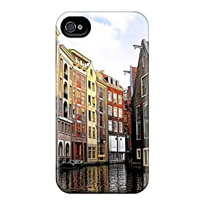 Luoxunmobile333 Qzc2102DBNE Protective Cases For Case Samsung Galaxy S4 I9500 Cover (amstardam Canal In Venice)