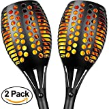 olar Lights, Sunlitec Waterproof Flickering Flames Torches Lights Outdoor Landscape Decoration Lighting Dusk to Dawn Auto On/Off Security Torch Light for Garden Patio Deck Yard Driveway, 2 Pack