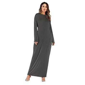 7b83ea9313 Amazon.com: Clearance Sale Womens Casual Loose Maxi Dress,Muslim Ramadan  Plus Size(S-2XL) Elegant Kaftan Abaya Long Robes Burqa Tunics Tops (S, ...