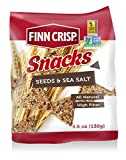 Finn Crisp Rye Snacks, Seeds & Sea Salt, 4.6 Ounce (Pack of 5)