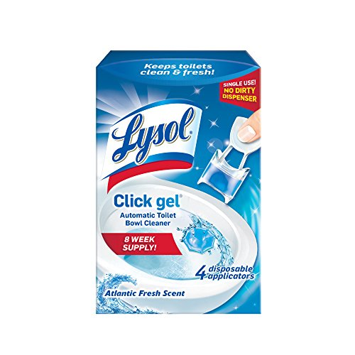 Lysol Click Gel Automatic Toilet Bowl Cleaner, Ocean Fresh, 4ct