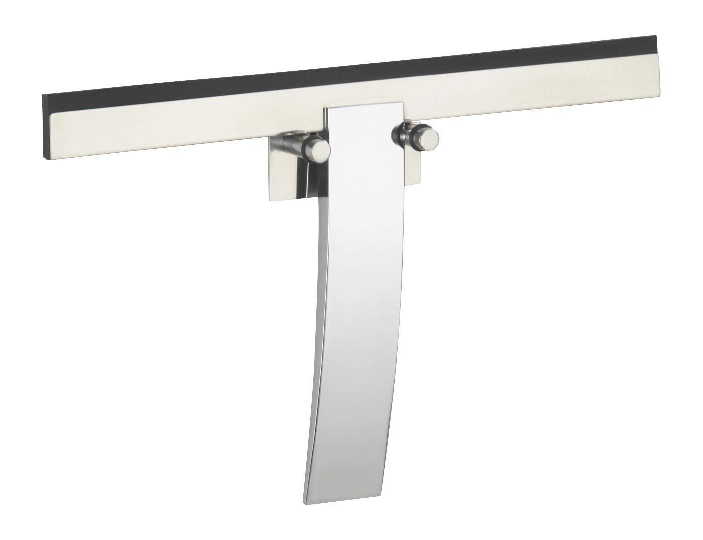 WENKO 18172100 Bathroom wiper Gela, shiny for bath and shower, Metal Zinc diecasting, Shiny by