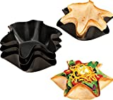 Set Of 4 Pans, Quick & Easy Tortilla Shell Makers, As Well As Taco Bowls Maker. Dishwasher Safe.
