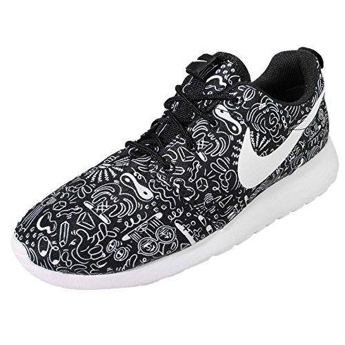 Para Nike Lona Mujer Zapatillas Wmns Negro Roshe Print One De 0Y0rqwB