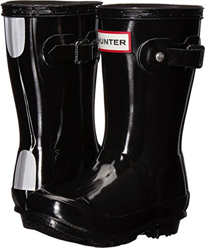 Toddler Black Hunter Boots (Hunter Kids Unisex Original Gloss Rain Boots (Toddler/Little Kid) Black 11 M US Little)