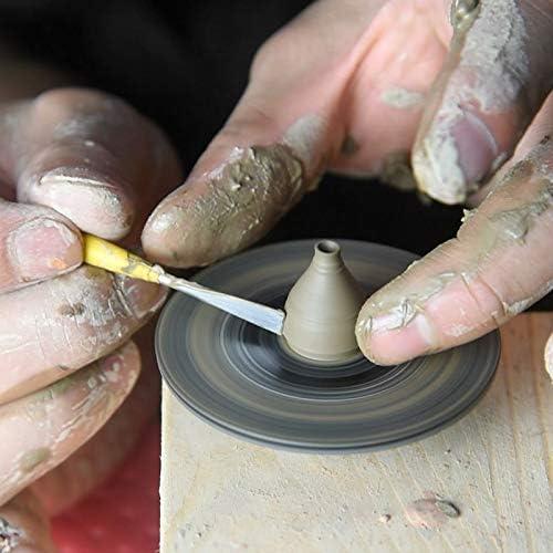 BAOSHISHAN陶器ホイールミニ陶器ホイール 電気陶芸用ホイール 小型電動ろくろ DIYミニ陶芸機 陶芸機器セラミックマシン USB充電式 低騒音 (白い)
