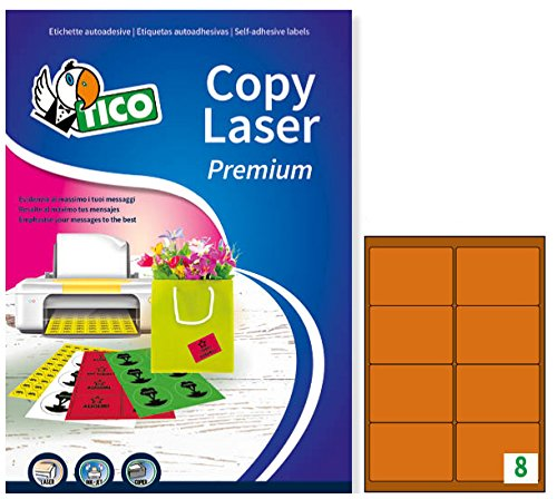 Tico LP4FA-9967 Etichette 70 FF Arancione 99.1 x 67.7 Angoli Arrotondati