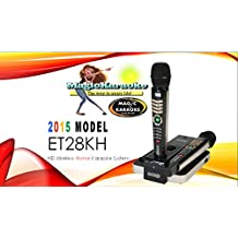 New for 2015! ENTERTECH ET28KH ENGLISH VERSION ONSTAGE DUAL WIRELESS MAGIC KARAOKE MICROPHONE -Replaces Magic Sing